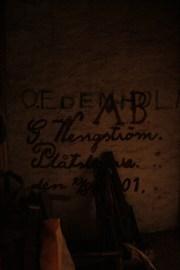 Antikt klotter fanns det gott om på väggarna.