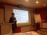 Beata från Jordbruksverket informerar oss om kommande Leaderarbete.