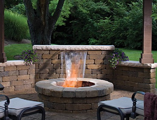 Adding a Water Feature | Landscape Hardscape on Backyard Feature Walls  id=79685