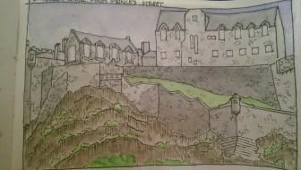 Sketch of Edinburgh Castle