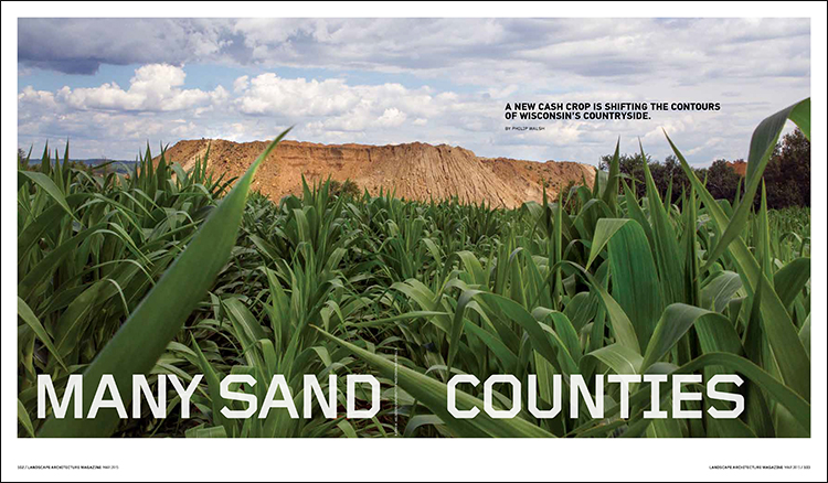 sand county wisconsin map Many Sand Counties Landscape Architecture Magazine