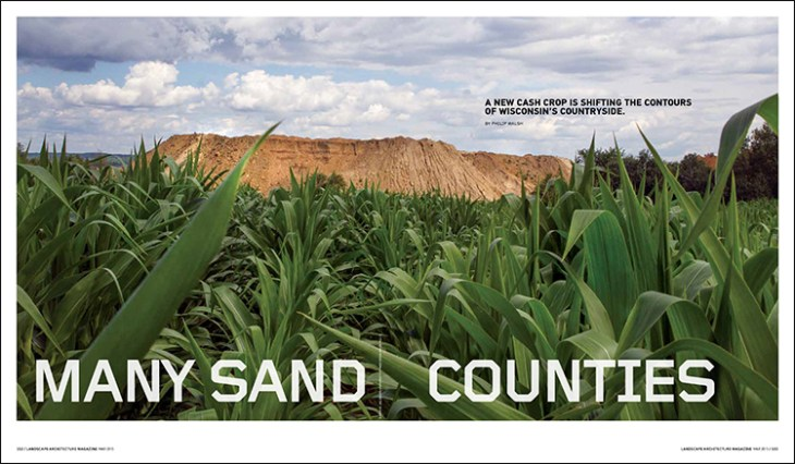 A new cash crop is shifting the contours of Wisconsin's countryside.