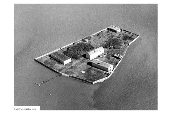 An abandoned island is the Venice Lagoon. Local Code by Nicholas de Monchaux, published by Princeton Architectural Press 2016.