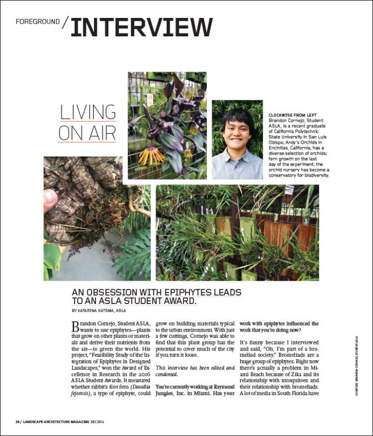 An obsession with epiphytes leads to an ASLA Student Award.
