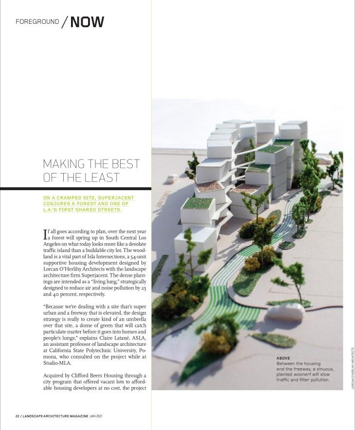 January 2021 Landscape Architecture Magazine