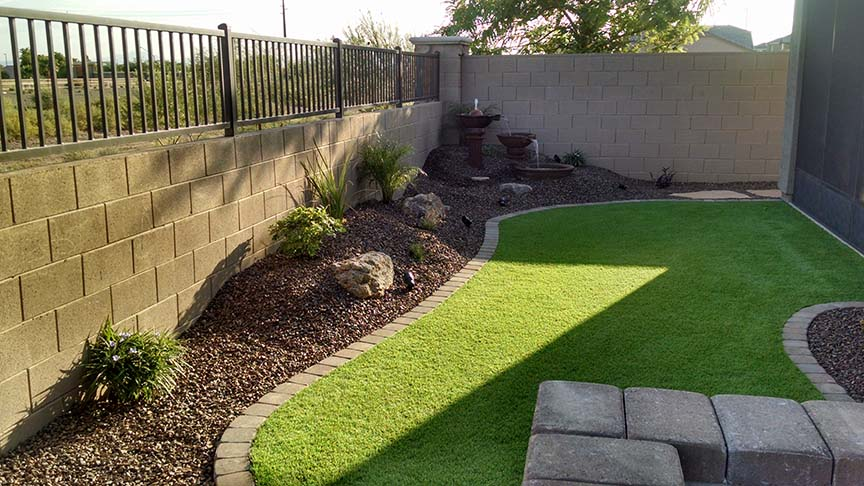 Small Backyard Landscaping - Az Living Landscape & Design on Patio And Grass Garden Ideas id=34777