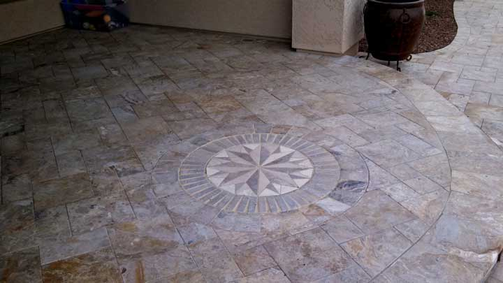 Paver Patio design ideas installation - Arizona Living ... on Travertine Patio Ideas id=51759