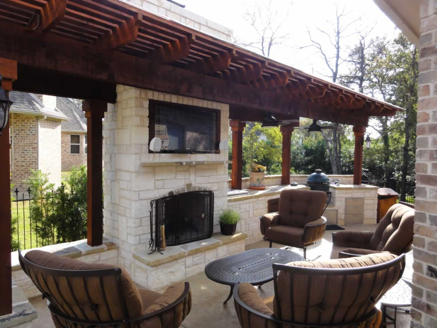 Landscape by Design | Landscape Contractor in North Texas on Outdoor Kitchen And Fireplace Ideas id=90905