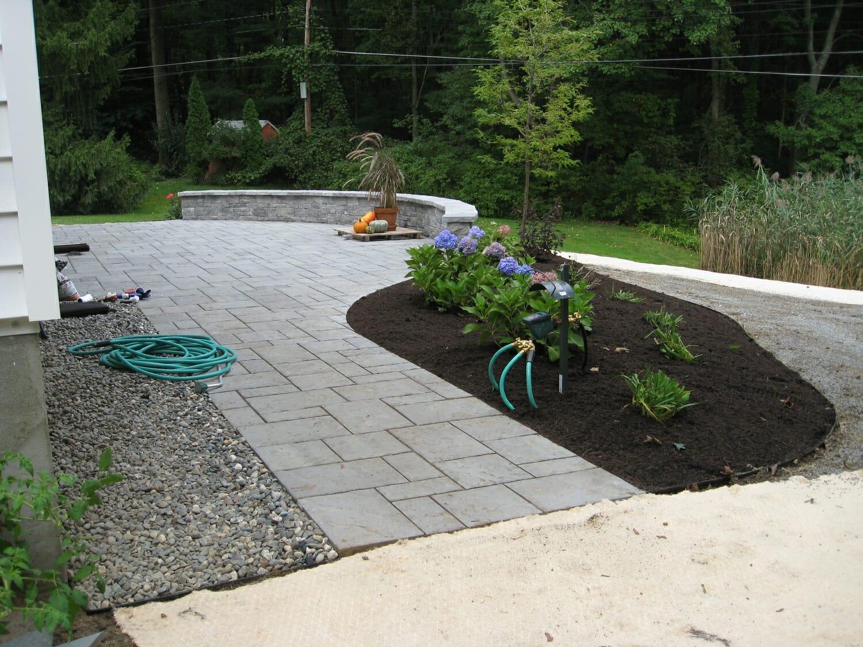 Back Yard Hardscape Design Loudonville, NY - Landscape ... on Backyard Hardscape Design id=37635