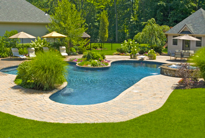 Backyard Landscape Designs | Ideas Photos and Plans on Backyard Pool Landscape Designs id=97795