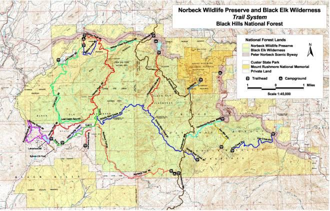 Image result for black elk wilderness trail system