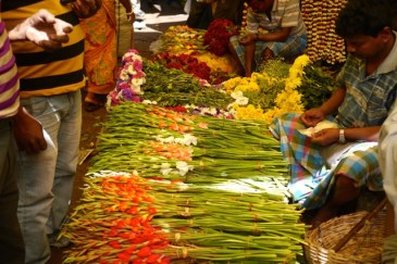 Kolkata flower market 6