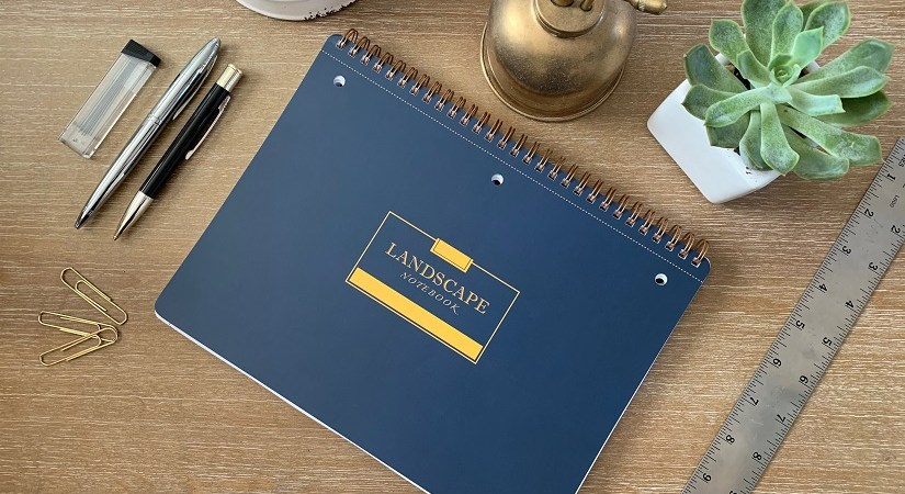 Landscape Notebook Navy Blue