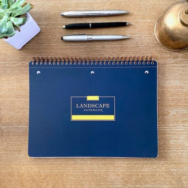 Landscape Notebook Navy Blue Straight