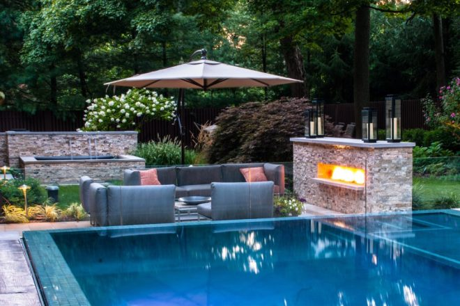 outdoor pool landscaping idea