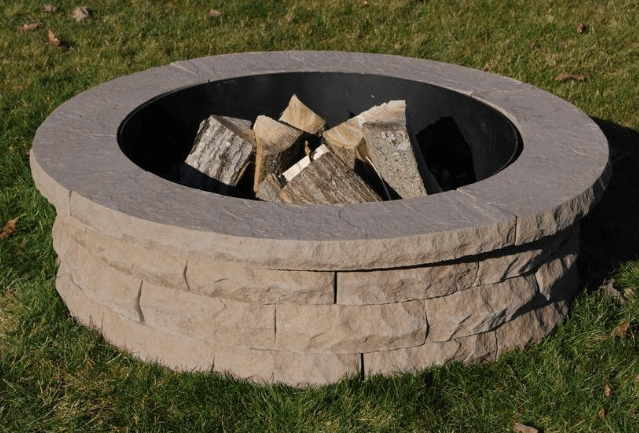 Nantucket Pavers Ledgestone Fire Pit Kit
