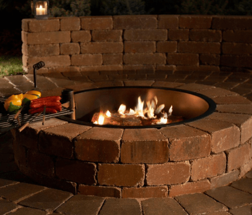 Necessories Grand Fire Pit Kit with Cooking Grate