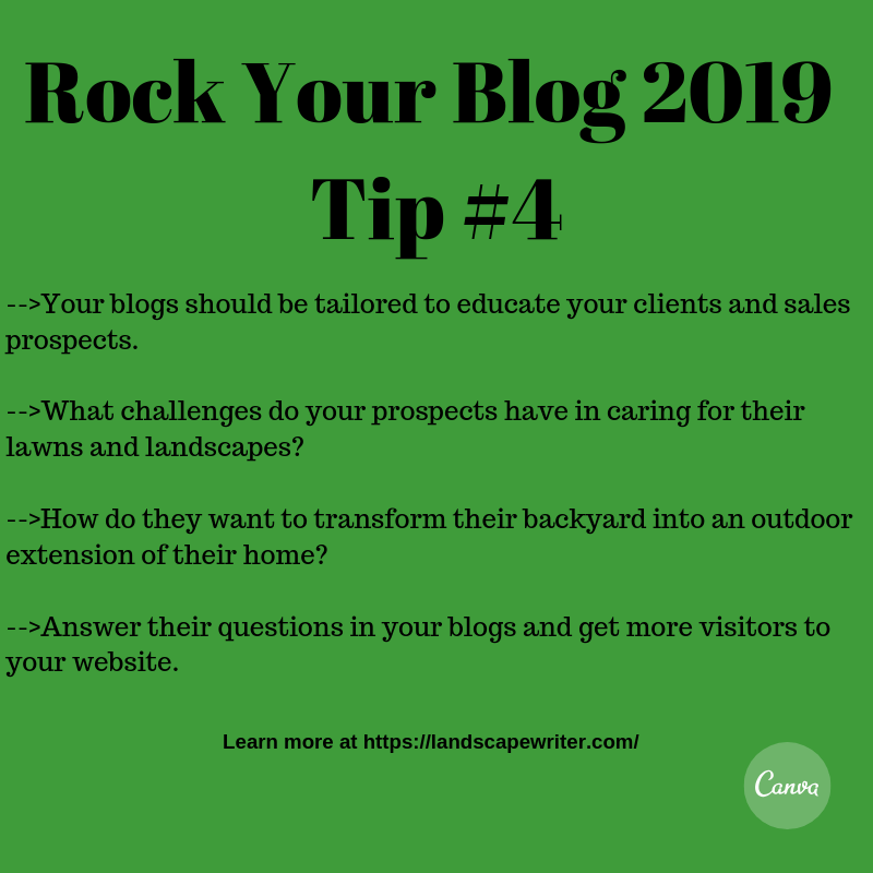 Rock Your Lawncare & Landscaping Blog 2019 - Tip #4