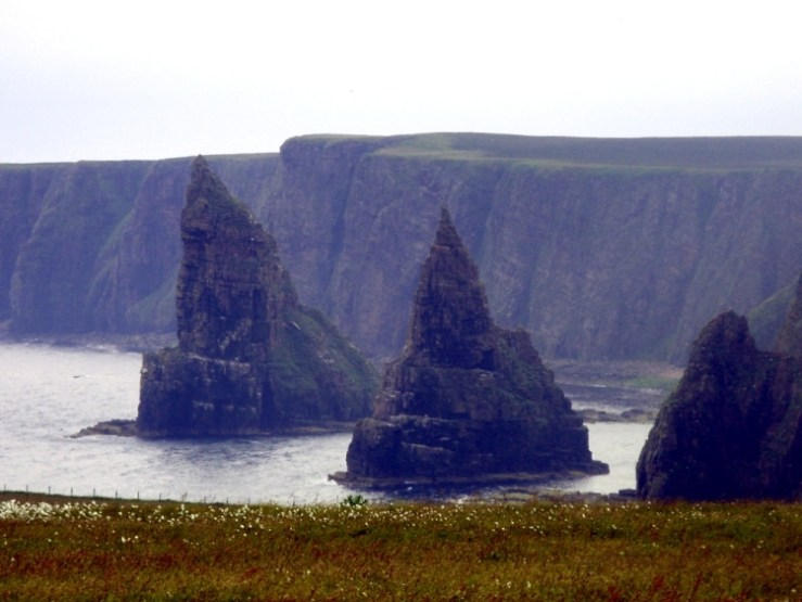 Image of Duncansby Head Stacks- Map of Day Zero for Lands End to John O'Groats - My End to End