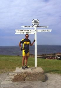 Image - At JOG Sign Post for Lands End to John O'Groats - My End to End
