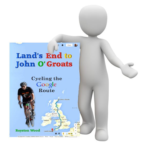 Image of Man Holding LEJOG Book - Google Route