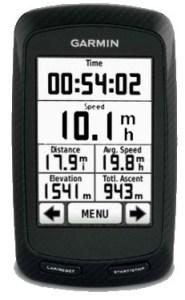 LEJOG Image of Bike Computer Garmin 800