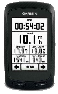 LEJOG Image of Bike Computer Garmin 800