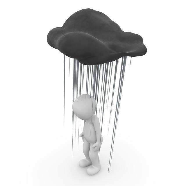 LEJOG - Hydration - Image of man soaked under cloud