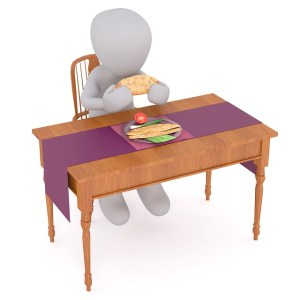 Image of man sitting at table for LEJOG - Nutrition
