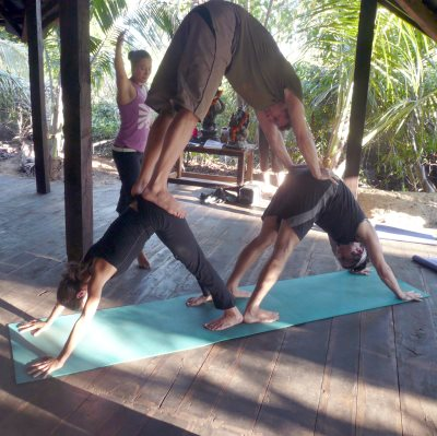Stretching exercises for cyclists - Downward facing dog yoga pose