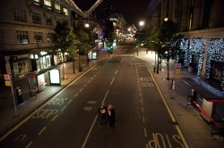 An eerily quiet Oxford Street