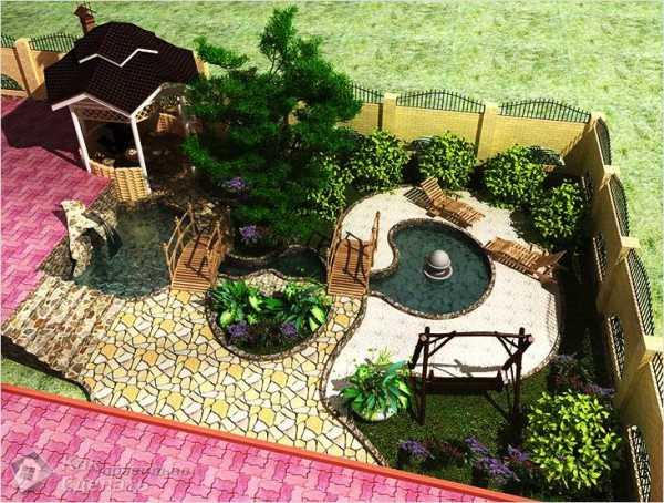 дизайн двора частного дома своими руками 6