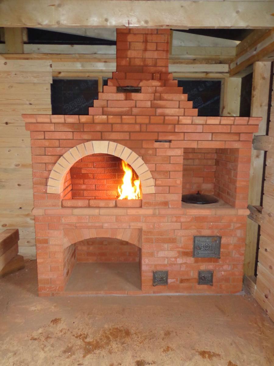 Barbecue En Pierre De Parement poêle barbecue en brique ancienne. grill à briques: les