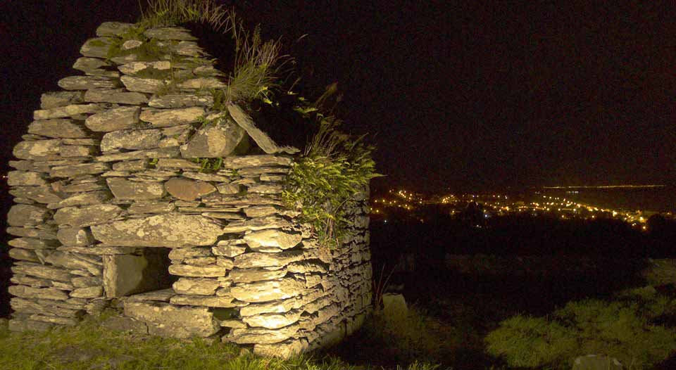 Skull house at night, Cooley, Inishowen, Donegal