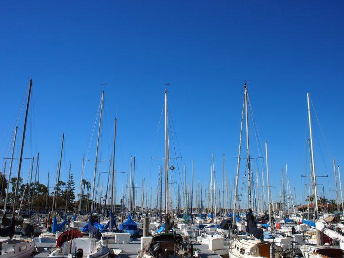 The yachts at Marina Del Rey.