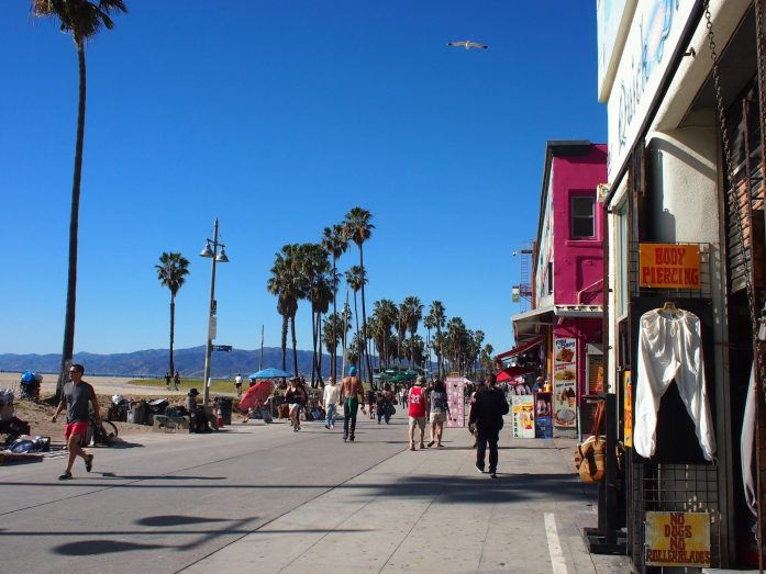 The strip at Venice Beach.