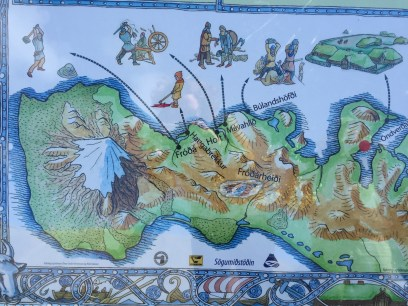 Saga events map off the highway in Snæfellsnes