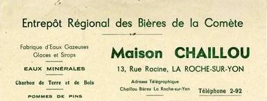 Entrepot régional des bières de la Comète Maison Chaillou La Roche-sur-Yon