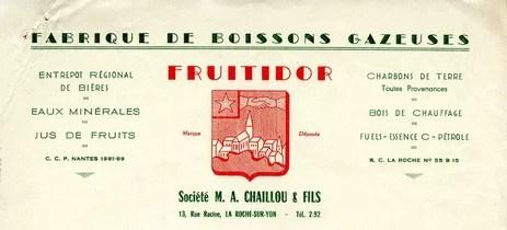 Entrepot régional de bières Fruitidor M.A. Chaillou et fils