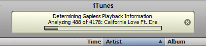iTunes Determining Gapless Playback Information