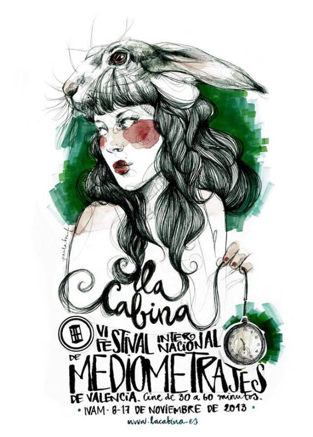 Tots volen el cartell del conill blanc il·lustrat per Paula Bonet