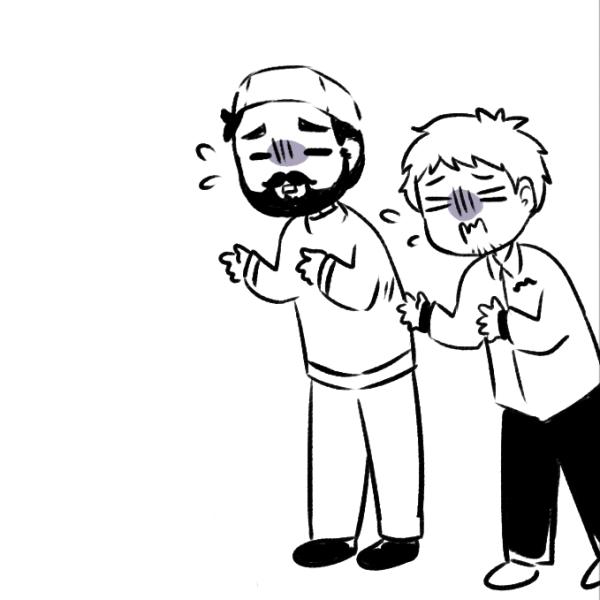 2. beard-thumb