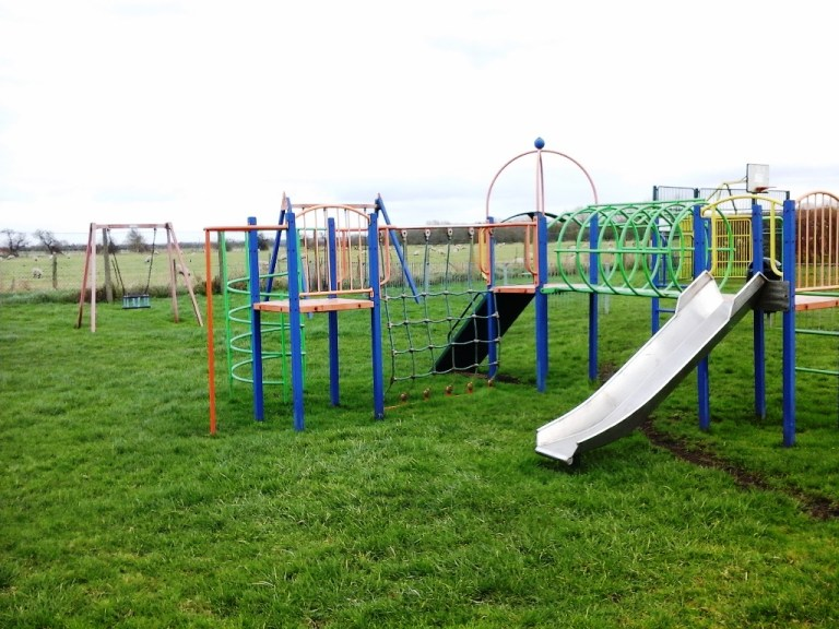 Equipment at Barnstone play area