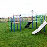 Equipment at Barnstone play area