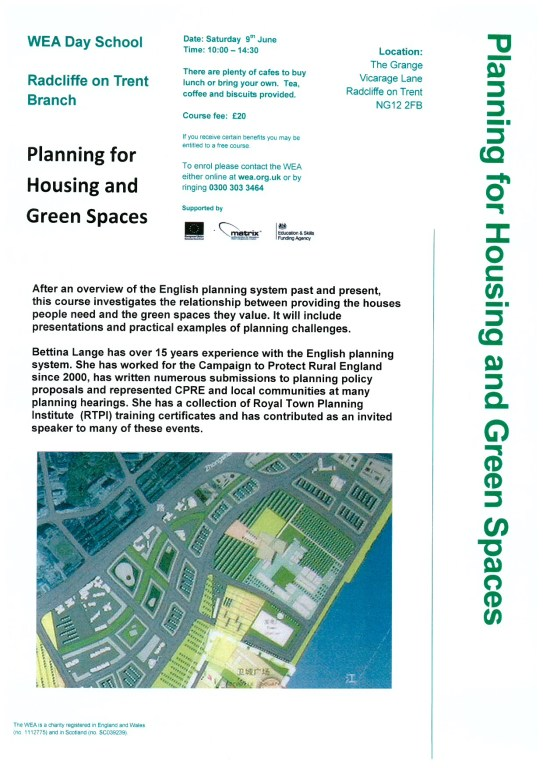 Planning for Housing and Green Spaces 2018