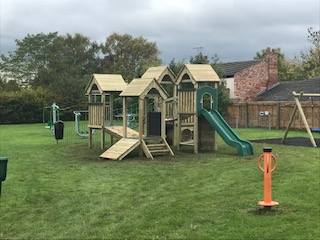 New equipment at Barnstone play area