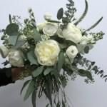 Eucalyptus Wedding Flowers With Stunning White Peonies