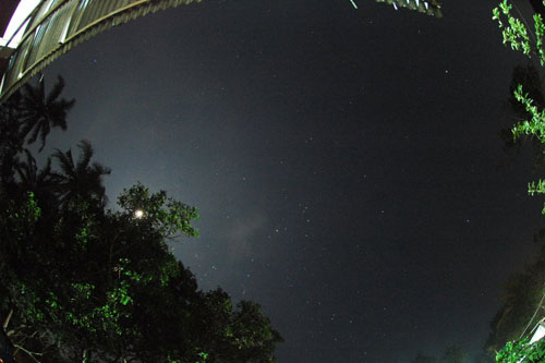 langit malam di Borobudur