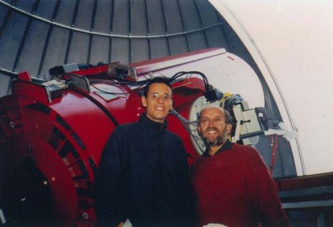 Didier Queloz dan Michel Mayor dari Observatorium Geneva, penemu exoplanet pertama yang mengorbit bintang tunggal