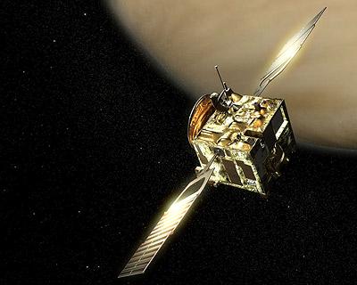 Venus Express di Venus. Impresi artis. Kredit : ESA